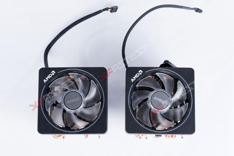 AMD Wraith Prism Cooler。左が本物、右が偽物