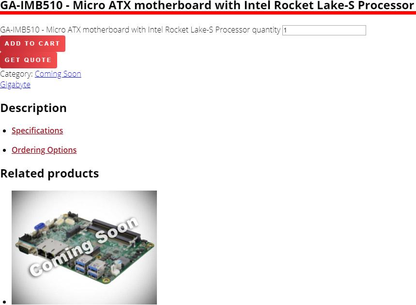 GA-IMB510 - Micro ATX motherboard with Intel Rocket Lake-S Processor