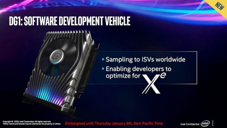 Intel Xe『DG1 Software Development Vehicle』