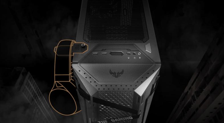 ASUS TUF Gaming GT301 ヘッドセットフック