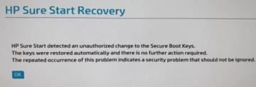 HP Sure Start Recovery