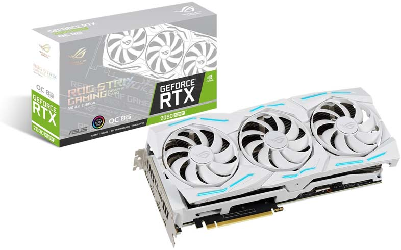 ROG Strix GeForce RTX 2080 SUPER White Edition - 本体とパッケージ