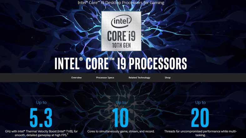 Intel Comet Lake-S Processors