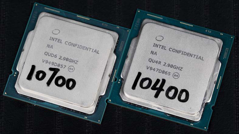 Core i7-10700およびCore i5-10400 QS版