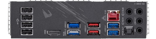 Gigabyte Z490 AORUS ELITE-AC - バックパネル