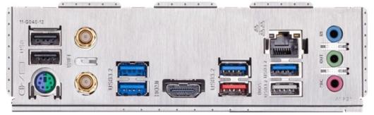 Gigabyte Z490 UD AC - バックパネル