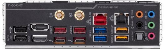 Gigabyte Z490 VISION D - バックパネル