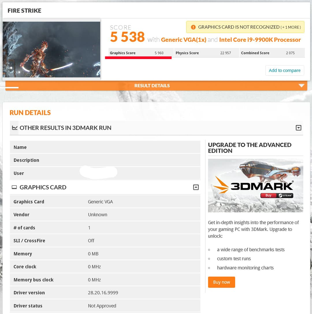 3DMark Fire Strike - DG1