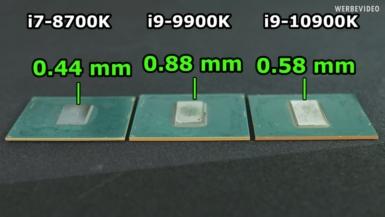 Core i9-10900K - ダイの高さ