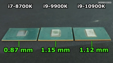 Core i9-10900K - PCBの厚み