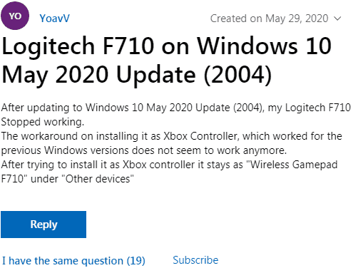 Microsoft Commnityに寄せられた嘆きの声