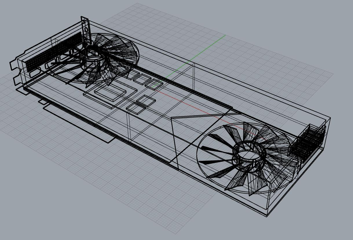 GeForce RTX 3080 - 3Dモデル