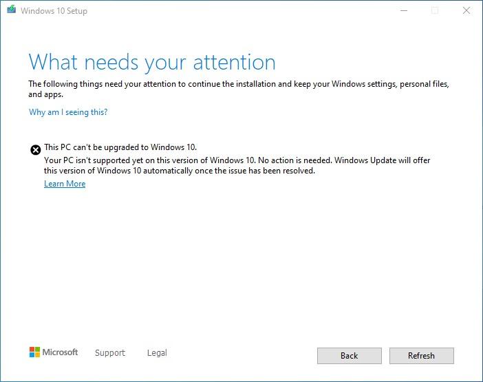 Windows10  v2004へのアップデートをブロック