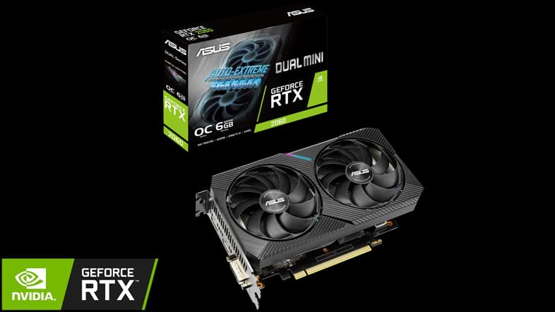 ASUS GeForce RTX 2060 DUAL-RTX2060-O6G-MINI