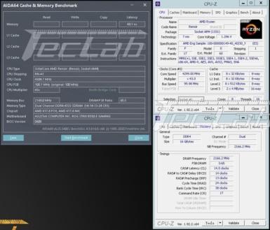 ES版Ryzen 7 4700GE メモリテスト