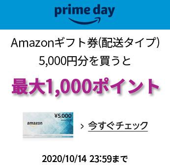 Amazonギフト券 1000ポイントキャンペーン