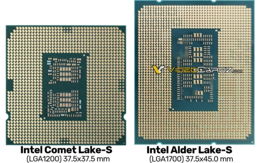 Intel Alder Lake-S エンジニアリングサンプル