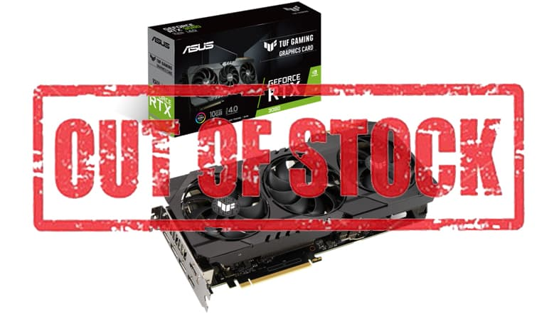 GeForce RTX 3080 - OUT OF STOCK