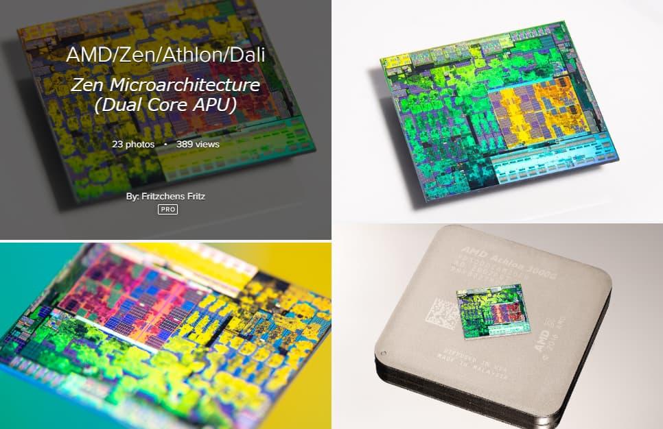 Zen / Athlon 3000Gのダイ