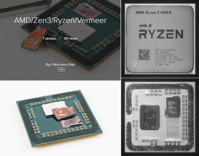Zen 3 / Ryzen 5 5600Xのダイ