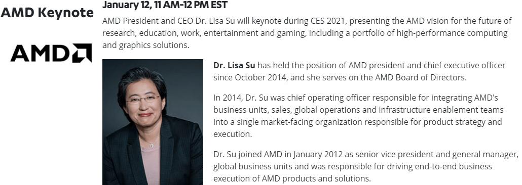 CES 2021 - AMD Keynote