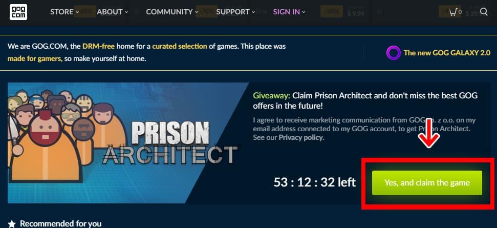 GOGトップページ - Prison Architectバナー
