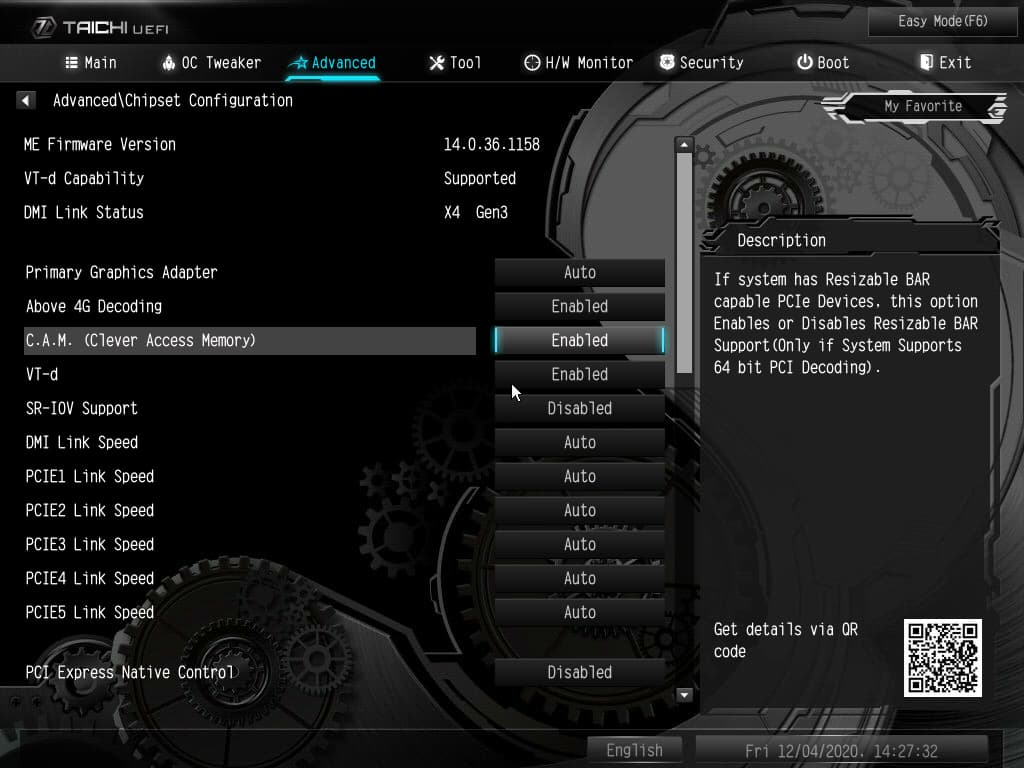 ASRock Z490マザーボード - UEFIの設定