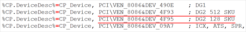 DG2 512EU (4096SP) / DG2 128EU (1024SP)