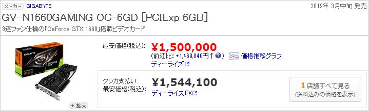 Gigabyte GeForce GTX 1660 GV-N1660GAMING OC-6GD