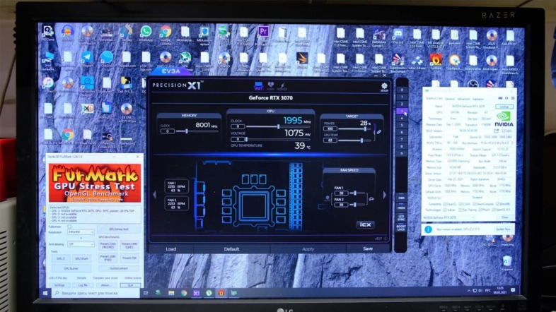 EVGA Precision X1でクロックを固定すると動作が安定