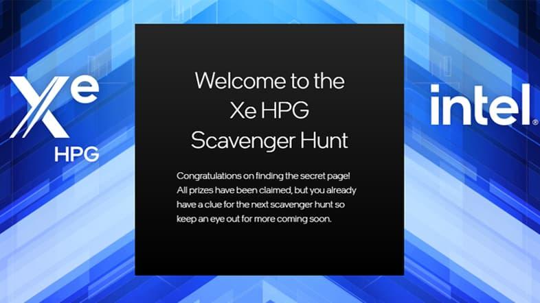 Intel Xe HPG Scavenger Hunt