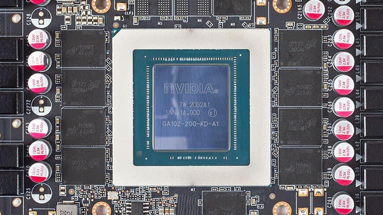 GeForce RTX 3080: GA102-200チップ