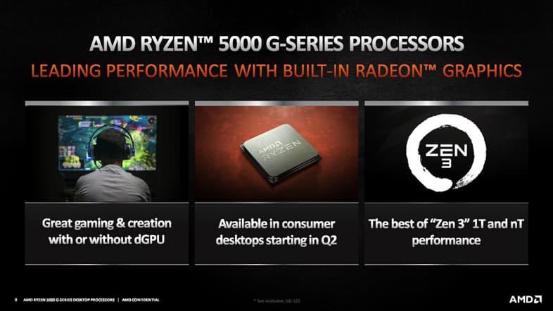AMD Ryzen 5000G Series