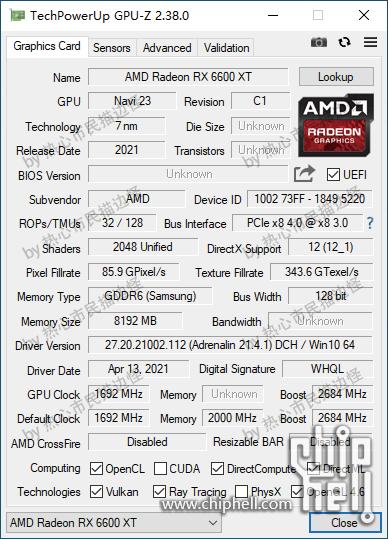 GPU-Z - ES版 Radeon RX 6600