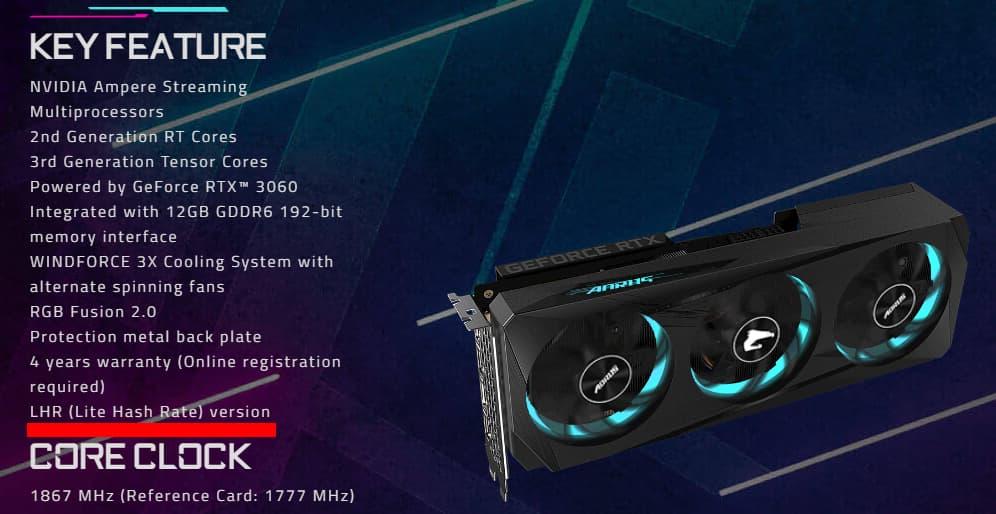 AORUS GeForce RTX 3060 ELITE 12G (rev. 2.0)