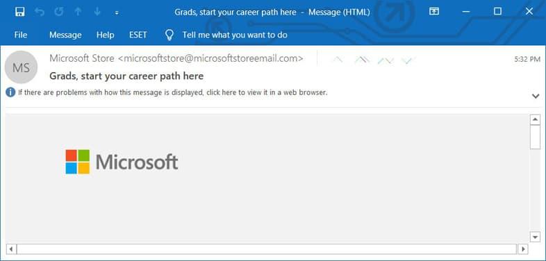 Outlook - 本文が表示されないメール