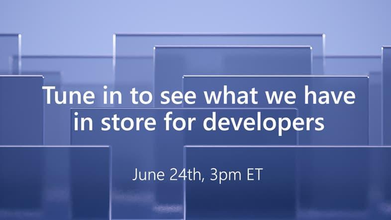Microsoft、 開発者向けイベントをアナウンス