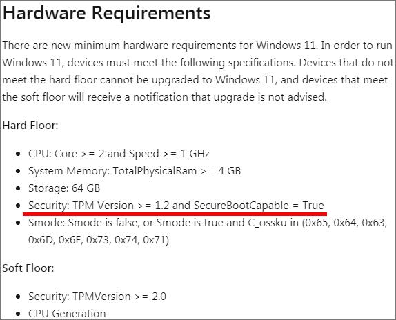 以前はTPM 1.2でも問題ないと書かれていた