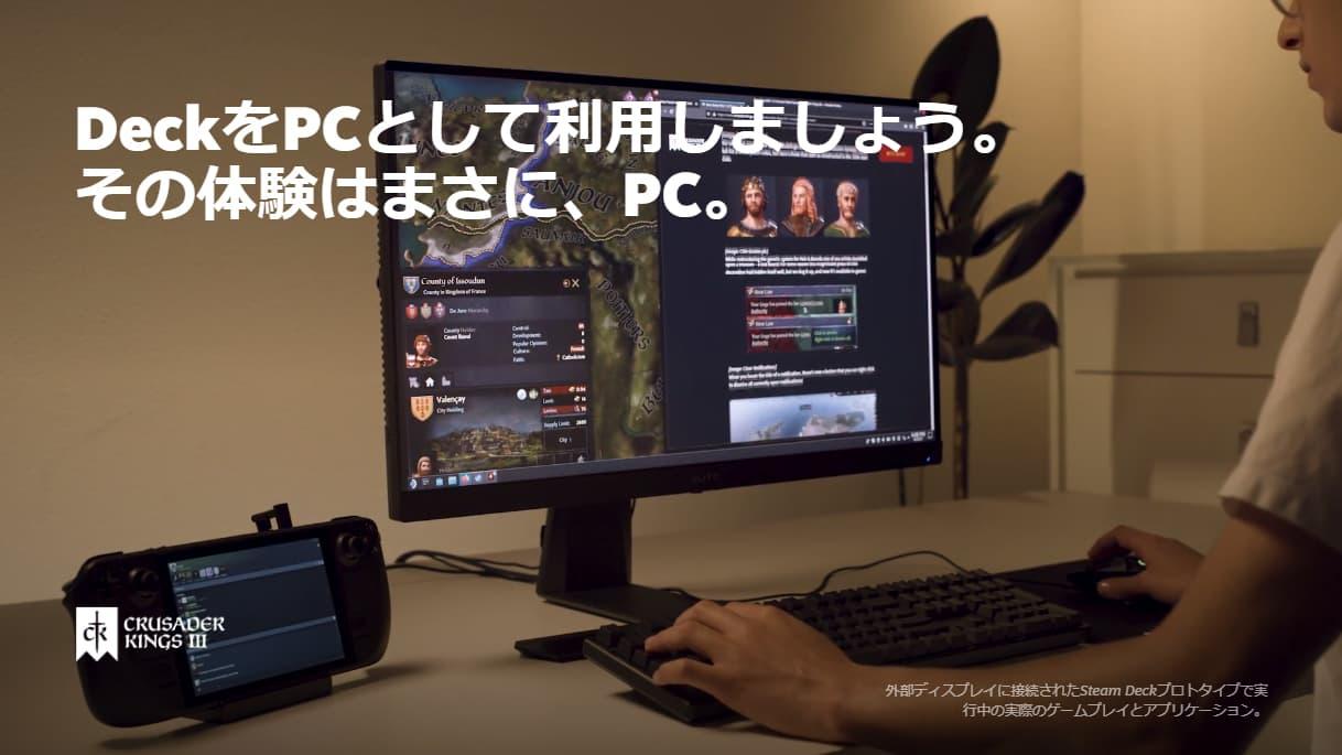 Steam Deck - PCスタイルでの操作も可能