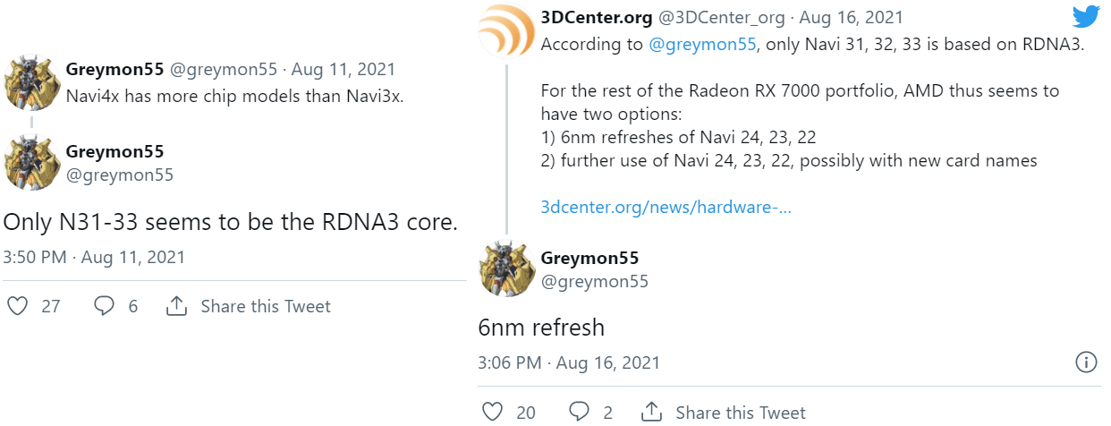 Radeon RX 7000シリーズの噂