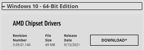 AMD Chipset Drivers Revision Number 3.09.01.140
