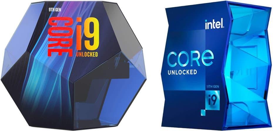 左: Core i9-9900K   右: Core i9-11900K